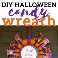 Diy Halloween Candy Wreath Perfect Trick