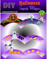 Diy Halloween Cupcake Wrappers Kidscanhavefun Blog