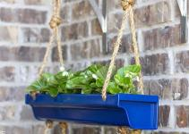 Diy Hanging Rain Gutter Planters Make Love
