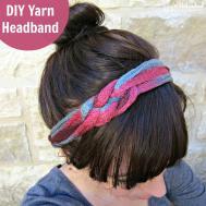Diy Headband Tutorial Made Ruffle Yarn