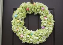 Diy Hydrangea Easter Wreath Canary Street Crafts