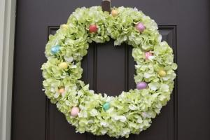 Diy Hydrangea Easter Wreath Canary Street Crafts