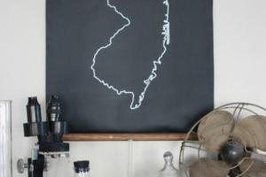 Diy Idea Make Chalkboard State Map Man Made