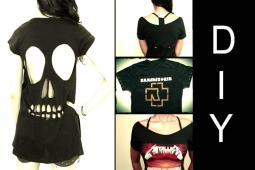 Diy Ideias Como Customizar Camisetas Banda Skull
