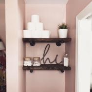 Diy Industrial Pipe Bathroom Shelves