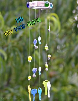 Diy Key Wind Chime Katie Talks Carolina