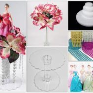 Diy Latex Flowers Polyresin Figurine Centerpiece