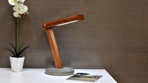 Diy Led Desk Lamp Concrete Base