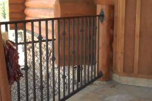 Diy Log Home Iron Railings Mitchell Dillman Kin