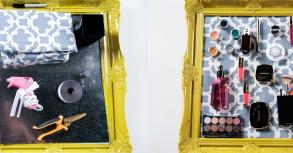 Diy Magnetic Makeup Board Organizer Popsugar Beauty