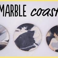 Diy Make Marble Coasters Clay Easy