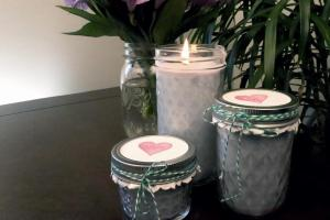 Diy Make Mason Jar Lavender Soy Candles