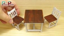 Diy Make Miniature Table Chair Vintage Paint