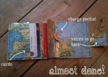 Diy Map Wallet Fabric Heart