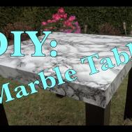 Diy Marble Table Crafts Projects