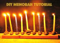 Diy Menorah Crafeteria Sugar Bee Crafts