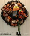 Diy Mesh Waving Jack Lantern Halloween Wreath