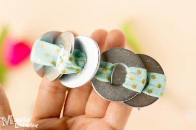 Diy Metal Washer Bracelet Muslin Merlot