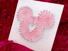 Diy Mickey String Art Fairy Tale Life