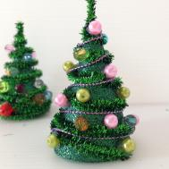 Diy Mini Pipe Cleaner Christmas Tree