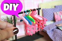 Diy Miniature Clothes Hangers Doll