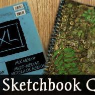 Diy Mixed Media Sketch Book Cover