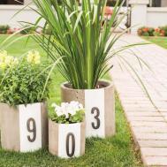 Diy Modern House Number Planters