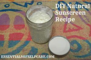 Diy Natural Sunscreen Recipe Essentials Self Care