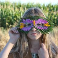 Diy Nature Mask Leaves Flowers Mer Mag