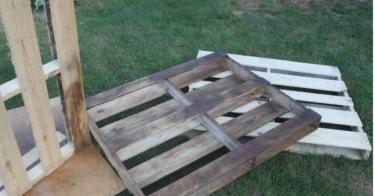 Diy Outdoor Dining Table Wood Pallets Hometalk