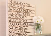 Diy Pallet Wall Art Love Family Home