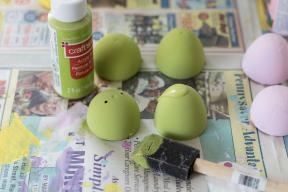 Diy Pastel Painted Speckled Plastic Easter Eggs Rose