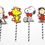 Diy Peanuts Valentine Day Frames Stick Props