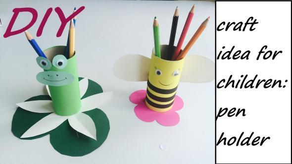 Diy Pencil Holder Easy Craft Idea Children