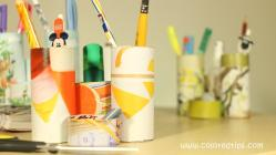 Diy Pencil Organizer Toilet Paper Rolls Recycle