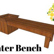 Diy Planter Bench Plans