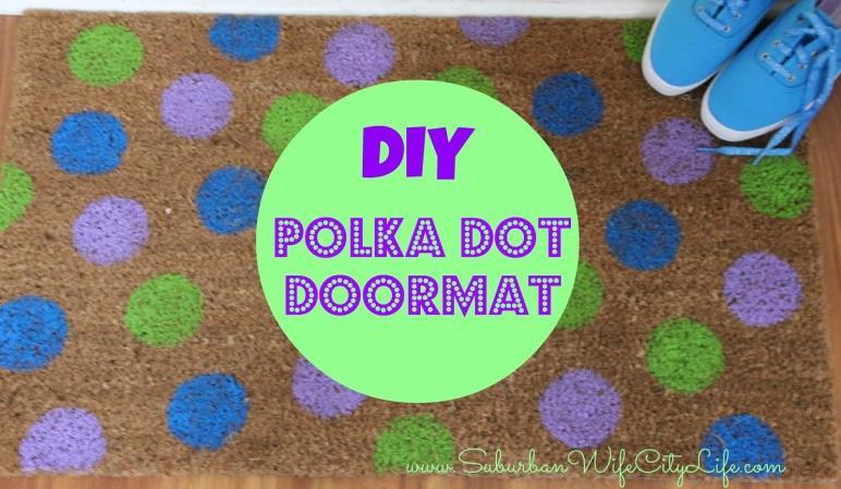 Diy Polka Dot Doormat Suburban Wife City Life