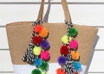 Diy Pom Beach Bag Homemadebanana