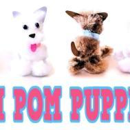 Diy Pom Puppies Easy Craft Idea Make Your