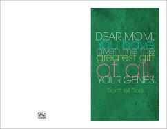 Diy Printable Mother Day Card Mom Genes