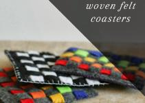 Diy Rainbow Woven Felt Coasters Handy