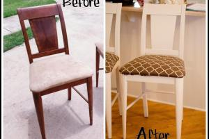 Diy Reupholstering Painting Old Bar Stools