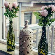 Diy Reuse Wine Bottles Flower Vases Shrads