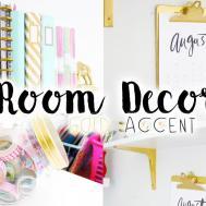 Diy Room Decor Organization Gold Accent