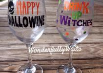 Diy Series Halloween Wine Glass Vinyl Decal