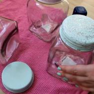Diy Shabby Chic Storage Jars Cute Girly Craft Idea