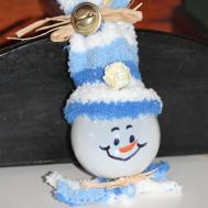 Diy Snowman Tree Ornament Recycled Light Bulb Suzdo