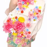 Diy Spring Flower Covered Backpack