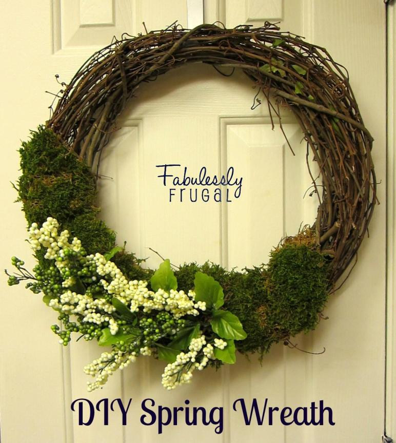 Diy Spring Flower Moss Wreath