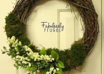 Diy Spring Flower Moss Wreath